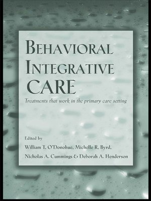 cover image of Behavioral Integrative Care