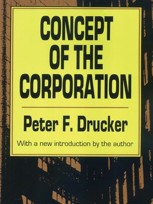 cover image of Concept of the Corporation