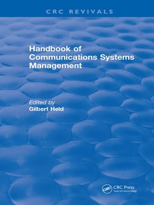 cover image of Handbook of Communications Systems Management