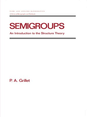cover image of Semigroups