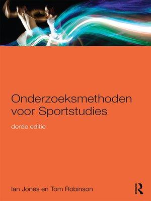 cover image of Onderzoeksmethoden voor Sportstudies