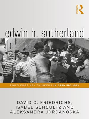 cover image of Edwin H. Sutherland