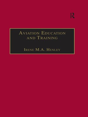 cover image of Aviation Education and Training