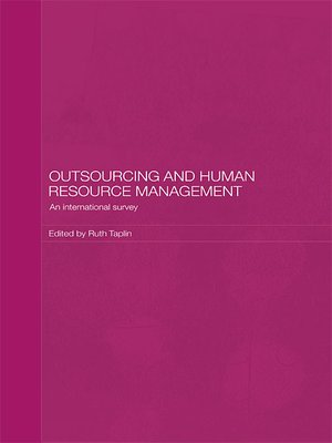 cover image of Outsourcing and Human Resource Management