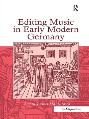 cover image of Editing Music in Early Modern Germany