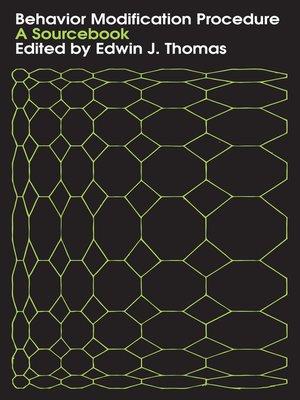 cover image of Behavior Modification Procedure