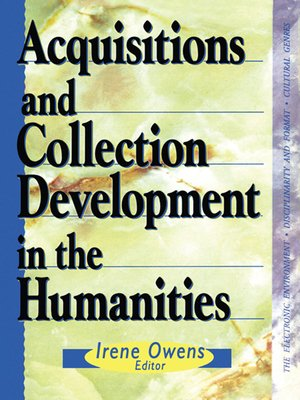 cover image of Acquisitions and Collection Development in the Humanities