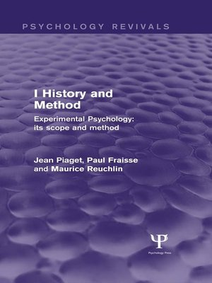 cover image of Experimental Psychology Its Scope and Method