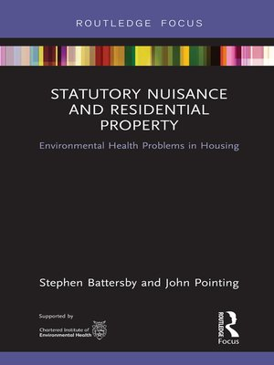 cover image of Statutory Nuisance and Residential Property