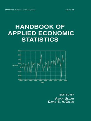 cover image of Handbook of Applied Economic Statistics