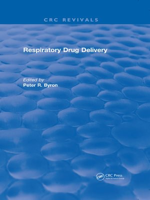 cover image of Respiratory Drug Delivery (1989)