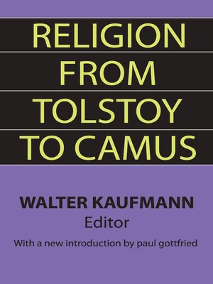 cover image of Religion from Tolstoy to Camus