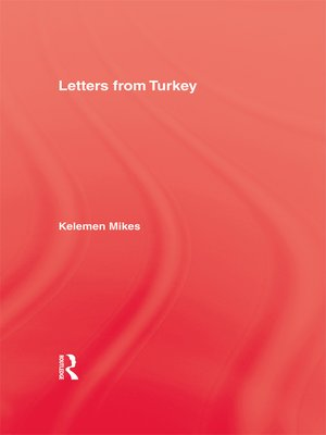 cover image of Letters From Turkey