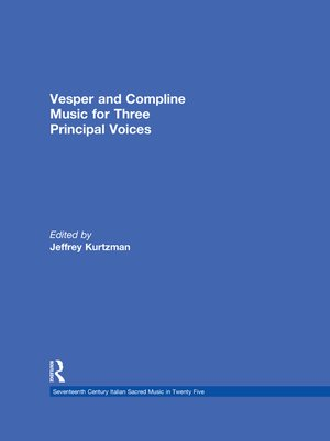 cover image of Vesper and Compline Music for Three Principal Voices
