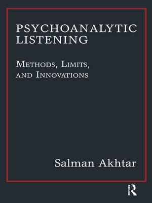 cover image of Psychoanalytic Listening