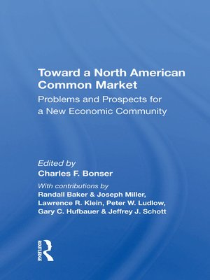 cover image of Toward a North American Common Market