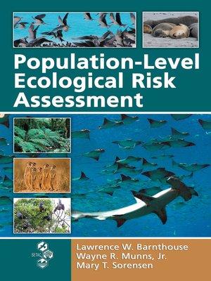 cover image of Population-Level Ecological Risk Assessment