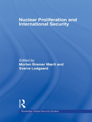 cover image of Nuclear Proliferation and International Security