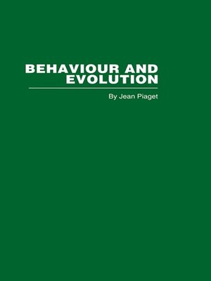 cover image of Behaviour and Evolution