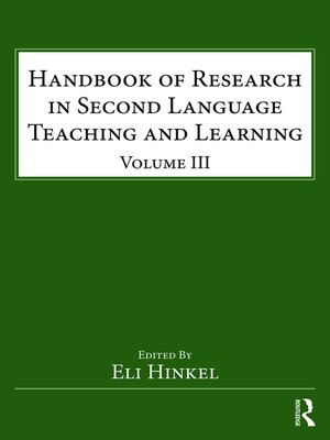 cover image of Handbook of Research in Second Language Teaching and Learning