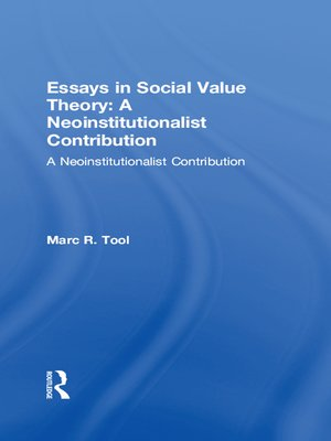 cover image of Essays in Social Value Theory