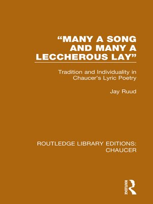 """cover image of """"Many a Song and Many a Leccherous Lay"""""""