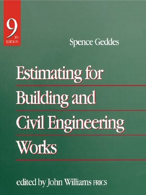cover image of Estimating for Building & Civil Engineering Work