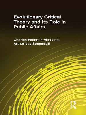 cover image of Evolutionary Critical Theory and Its Role in Public Affairs
