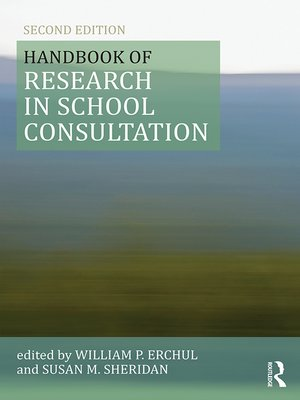 cover image of Handbook of Research in School Consultation