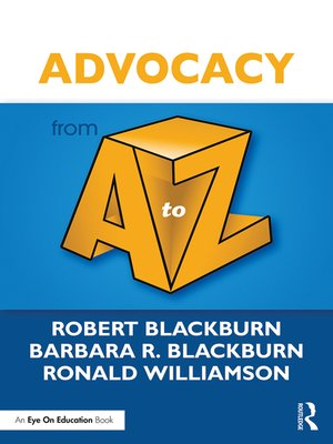 cover image of Advocacy from a to Z