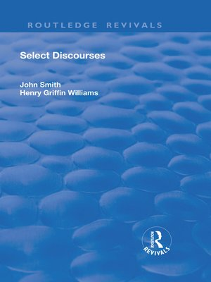 cover image of Select Discourses