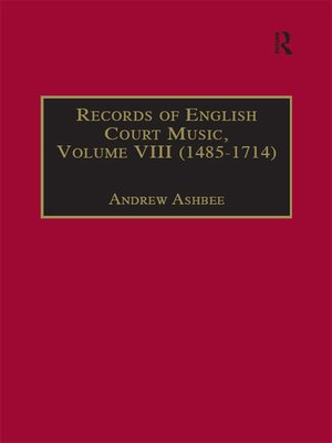 cover image of Records of English Court Music