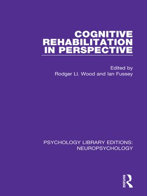cover image of Cognitive Rehabilitation in Perspective