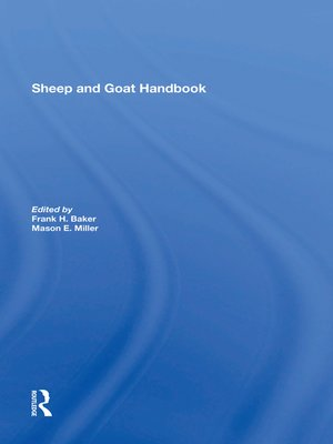 cover image of Sheep and Goat Handbook, Volume 4