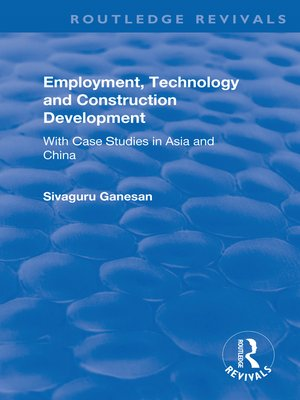 cover image of Employment, Technology and Construction Development