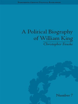 cover image of A Political Biography of William King