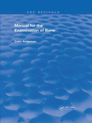 cover image of Manual for the Examination of Bone