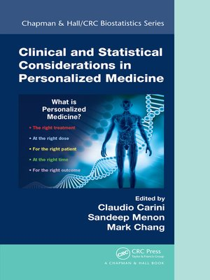 cover image of Clinical and Statistical Considerations in Personalized Medicine