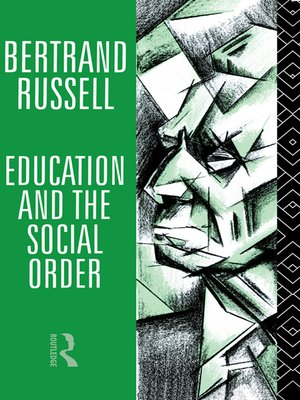 cover image of Education and the Social Order