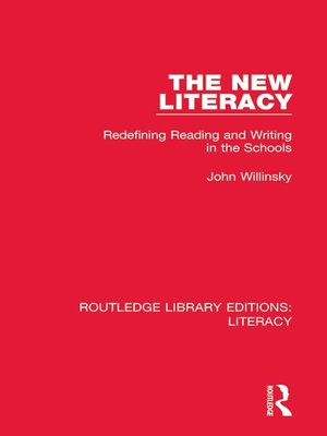 cover image of The New Literacy