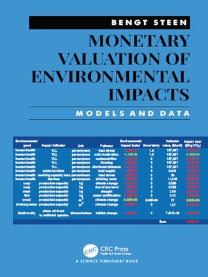cover image of Monetary Valuation of Environmental Impacts