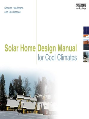 cover image of Solar Home Design Manual for Cool Climates