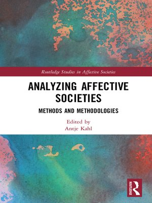 cover image of Analyzing Affective Societies
