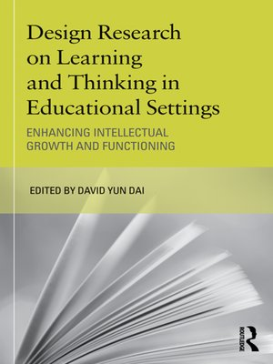 cover image of Design Research on Learning and Thinking in Educational Settings