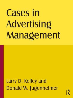 cover image of Cases in Advertising Management