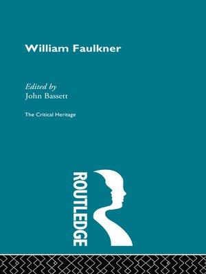 cover image of William Faulkner