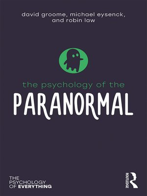 cover image of The Psychology of the Paranormal