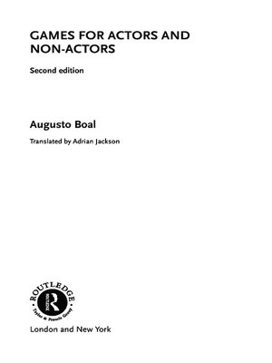 cover image of Games for Actors and Non-Actors