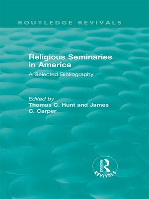 cover image of Religious Seminaries in America (1989)