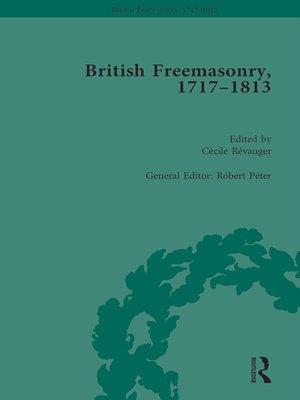 cover image of British Freemasonry, 1717-1813